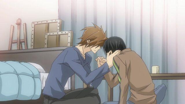 File:Kisa and Yukina get close ep09.jpg