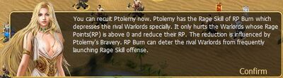 Ptomely RP burn info