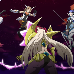 Chris, Hibiki and Tsubasa against Finé