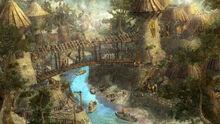 R169 457x257 19876 Under The Bridge 3d fantasy environment town picture image digital art
