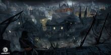 Contantinople by night concept art by Francis Denoncourt