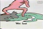 Wet foot dip