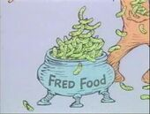 Fred feeds fritz with ritzy fred food