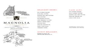 Magnolia Beer Menu