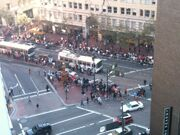 Before giants parade