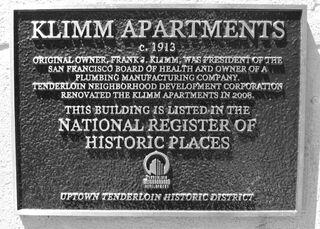 Klimm Apartments historical marker