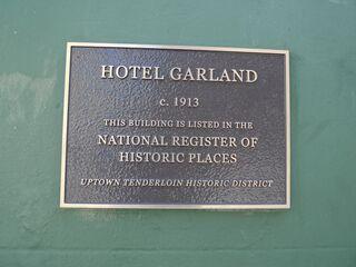 Garland hotel historical marker