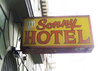 Sonny hotel sign