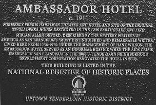 Ambassador hotel historical marker