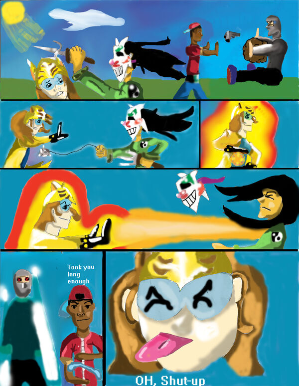 Comic with the solar cat elemento spray paint