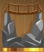 The bridge on the rocks