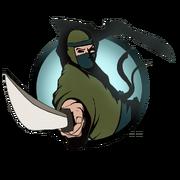 Ninja man machete old