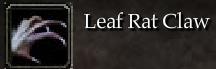 Leaf Rat Claw