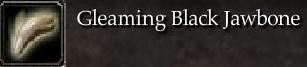Gleaming Black Jawbone
