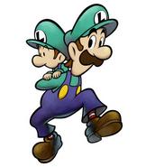 Luigi and his Baby Self