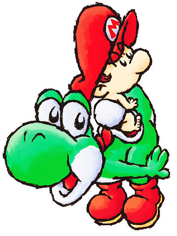 File:Yoshi and Baby.png