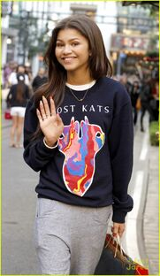 Zendaya-coleman-lostkats-shirt