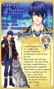 Yukiya Reizen - Character Info