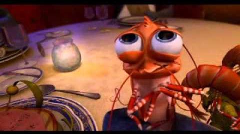 The shrimp from shark tale