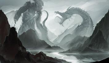 Battle of giants by sakimichan-d4p47w5