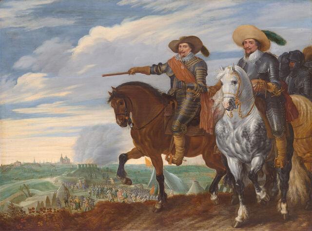 File:Prins Frederik Hendrik en graaf Ernst Casimir bij het beleg van 's-Hertogenbosch, 1629 (Pauwels van Hillegaert, 1635).jpg
