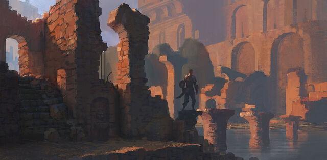 File:Red ruins by pe travers-d96kwae.jpg