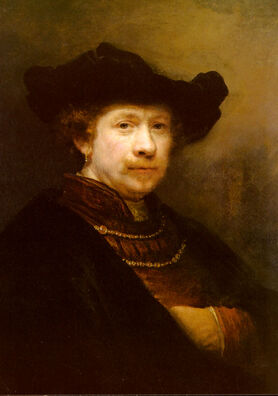 Rijn-Rembrandt-Van-Portrait-Of-The-Artist-In-A-Flat-Cap