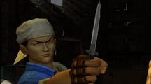 Ren holding Blade