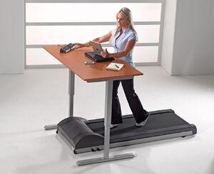 Actual treadmill desk