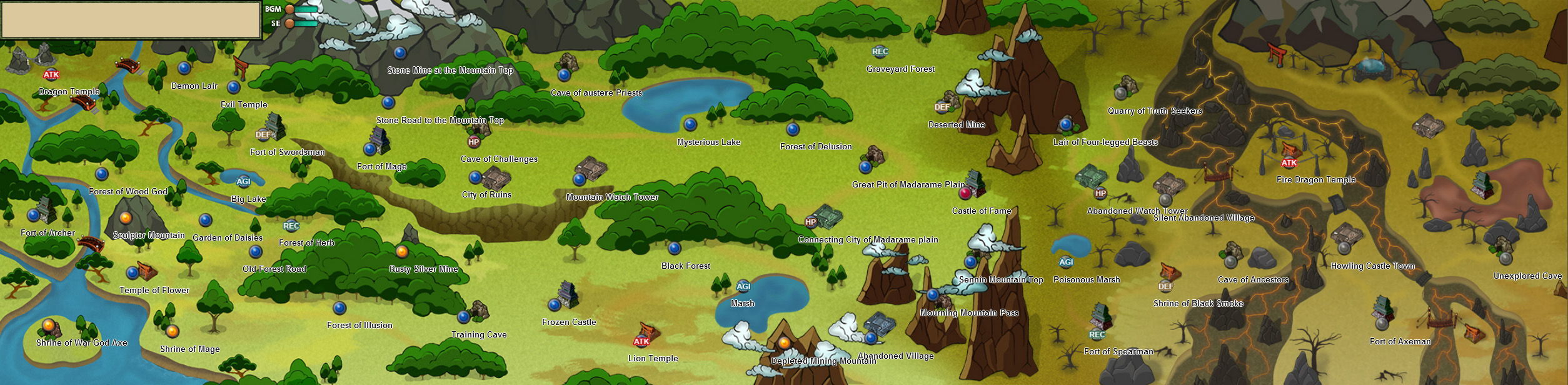 Element fragment map