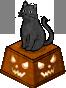 Black Cat Statue (Left)