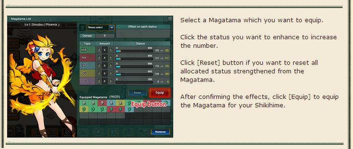Equip Magatama