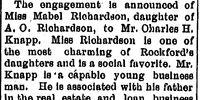 Morning Star/1895-09-21/Knapp-Richardson Engagement