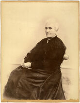 Frances Wood Shimer seated