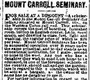 Milwaukee Daily News/1877-08-05/Mount Carroll Seminary