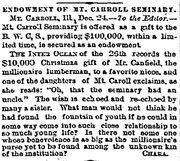 Inter-Ocean.1888-12-28.Endowment of Mt Carroll Seminary