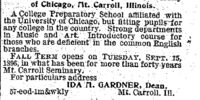 Waterloo Daily Courier/1896-07-24/The Frances Shimer Academy of the University of Chicago Mt Carroll Illinois