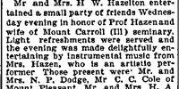 Omaha World Herald/1894-12-28/Mr and Mrs Hazelton Entertain