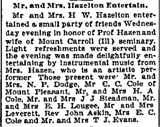 File:Omaha World Herald.1894-12-28.Mr and Mrs Hazelton Entertain.jpg
