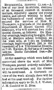 Cedar Rapids Times.1881-02-24.Rudimental Singing Class