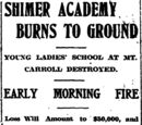 Morning Star/1906-02-10/Shimer Academy Burns to Ground