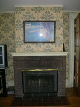 Waukegan Hutchins building interior fireplace