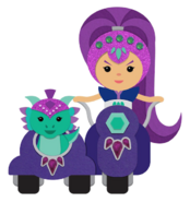 Zeta the Sorceress and Nazboo Icons Shimmer and Shine