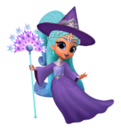 Princess Samira Witch Sprite from Shimmer and Shine Halloween Game