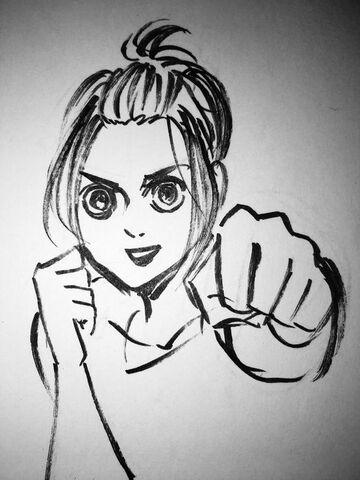 File:Isayama's initial sketch of Gabi.jpg