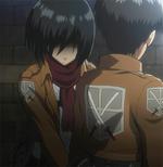 Mikasa's protective attitude towards Eren.png