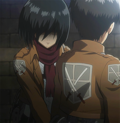 File:Mikasa's protective attitude towards Eren.png