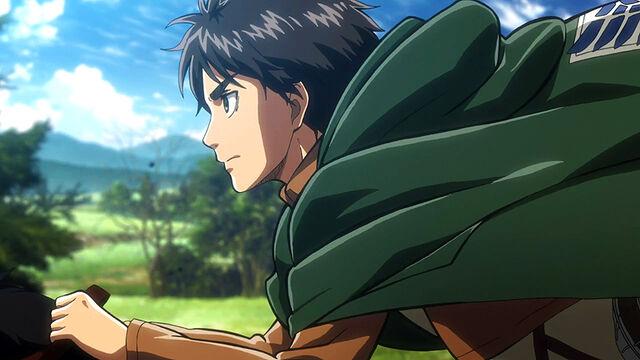 File:Eren rides with Squad Levi.jpg