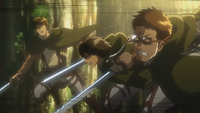 Goggles and his comrades begin to intercept the Titans