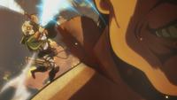 Rico slices a Titan's nape